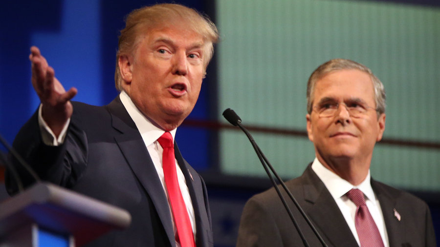 Jeb Bush vs Donald Trump